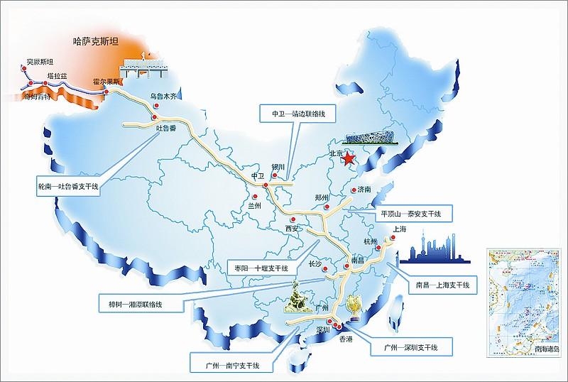 安蓓 胡俊超   10月16日,中国又一条陆上能源大动脉西气东输三线工程在北京、新疆和福建三地同时开工。这一工程建成后,每年将为中国不断增长的天然气市场增加300亿立方米天然气供应,惠及上亿人口,对于进一步构建完善中国西北能源战略通道和天然气骨干管网具有重要意义。   西气东输三线工程包括1条干线、8条支线,总长度约7378公里,配套建设3座储气库和1座液化天然气站。干线全长5220公里,西起新疆霍尔果斯,东至福建福州,途经新疆、甘肃、宁夏、陕西、河南、湖北、湖南、江西、福建和广东十个省区,设计压力